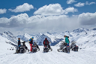 Snowmobile Central: Golden, British Columbia